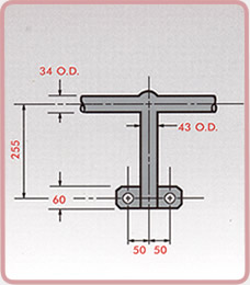 Ladder Stanchions - Side Mount
