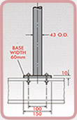 Stanchion Mounting Dimensions 1