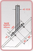 Stanchion Mounting Dimensions 3